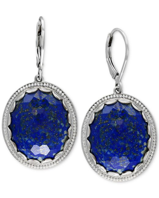 Effy Collection | Metallic Lapis Lazuli Drop Earrings (24-1/2 Ct. T.w.) In Sterling Silver | Lyst