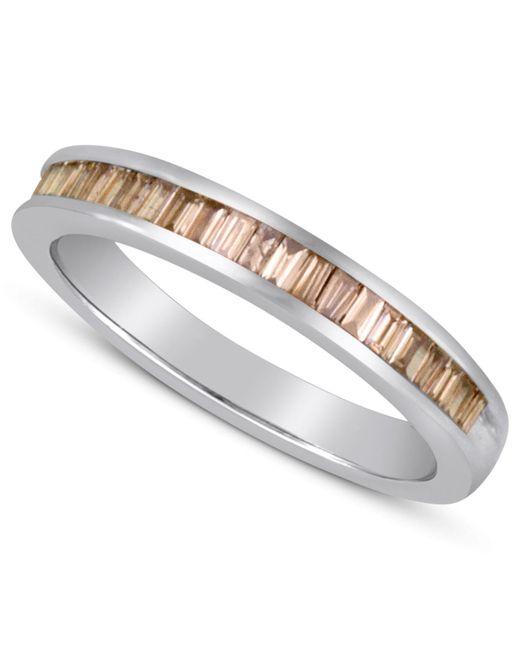 Macy's - Metallic Baguette-cut Champagne Diamond Ring In Sterling Silver (1 Ct. T.w.) - Lyst