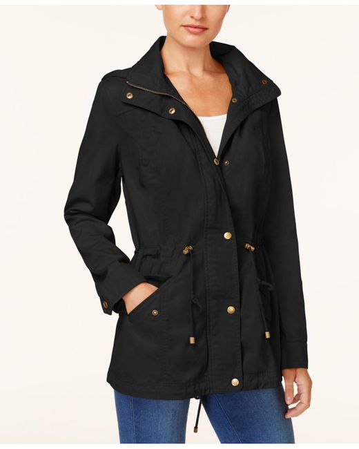 Style & Co. - Black Cotton Hooded Utility Jacket - Lyst