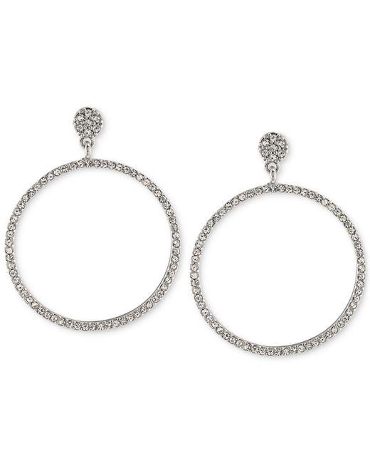 Carolee - Metallic Pavé Hoop Earrings - Lyst