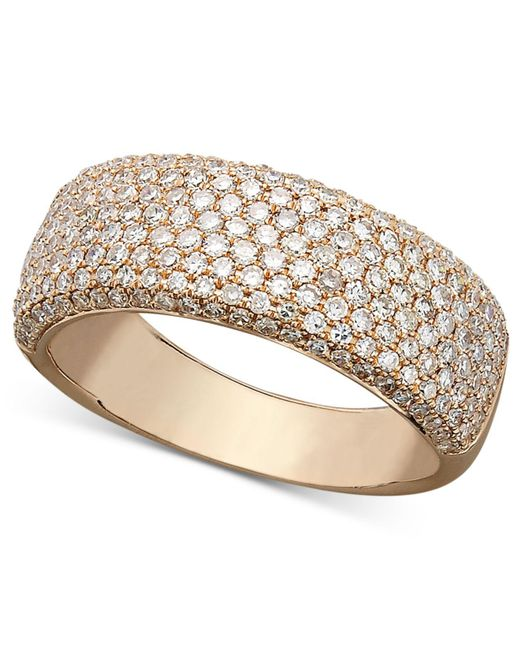 Effy Collection | Metallic Trio By Effy Diamond Diamond Pave Ring (1 Ct. T.w.) In 14k White, Yellow Or Rose Gold | Lyst