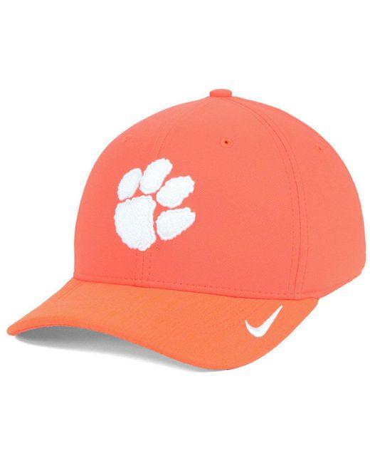 dfc4bbd51e5d7 ... shop nike orange clemson tigers arobill swoosh flex cap lyst 8017d 71c85