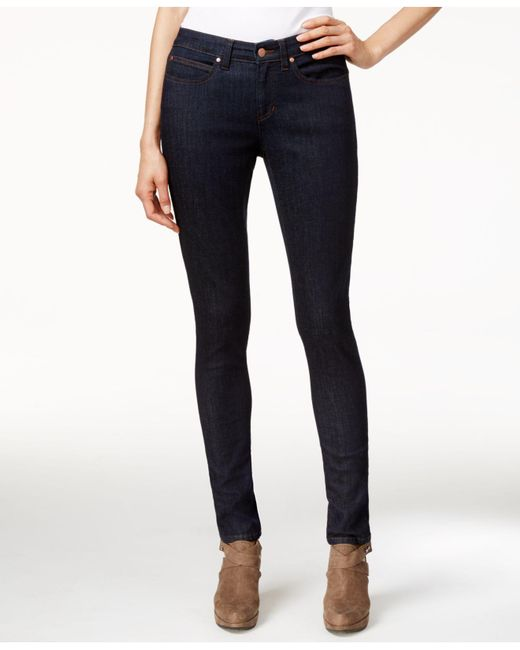 Eileen Fisher - Blue Low-rise Skinny Jeans, Black Wash - Lyst