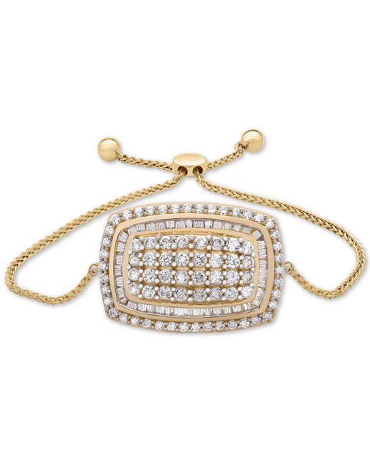 Wrapped in Love - Metallic Tm Diamond Cluster Bolo Bracelet (2 Ct. T.w.) In 14k Gold - Lyst