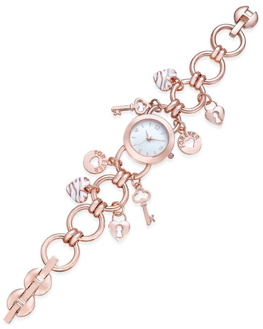 Charter Club | Multicolor Women's Rose Gold-tone Charm Bracelet Watch 23mm | Lyst