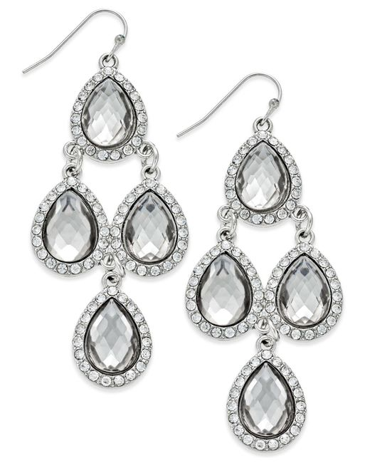 INC International Concepts | Metallic Gold-tone Jet Black Teardrop Chandelier Earrings | Lyst