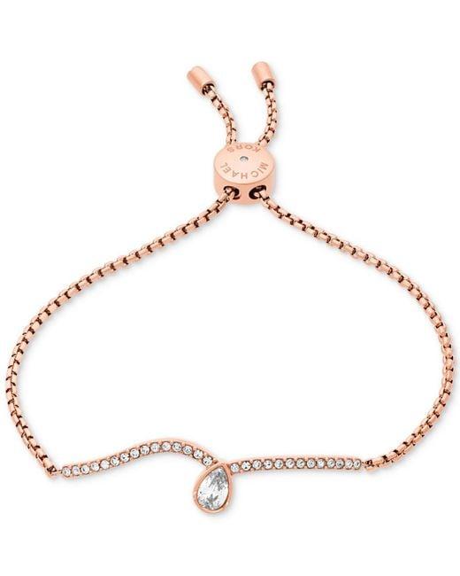 Michael Kors - Metallic Crystal Slider Bracelet - Lyst