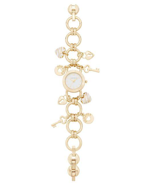 Charter Club - Metallic Women's Gold-tone Key Charm Bracelet Watch - Lyst