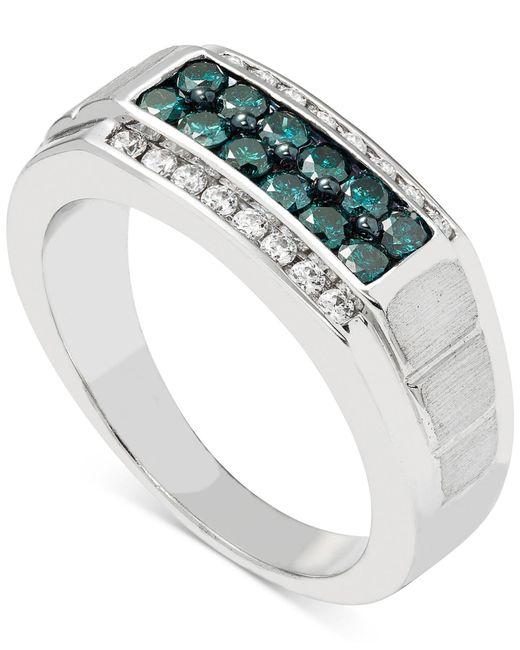 Macy's - Metallic Men's Diamond (1 Ct. T.w.) Ring In 10k White Gold - Lyst