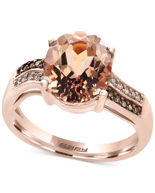 Effy Collection - Pink Morganite (3-1/10 Ct. T.w.) And Diamond Accent Ring In 14k Rose Gold. - Lyst
