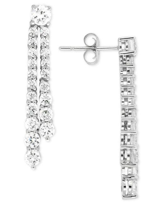 Wrapped in Love | Diamond Linear Drop Earrings (2 Ct. T.w.) In 14k White Gold | Lyst