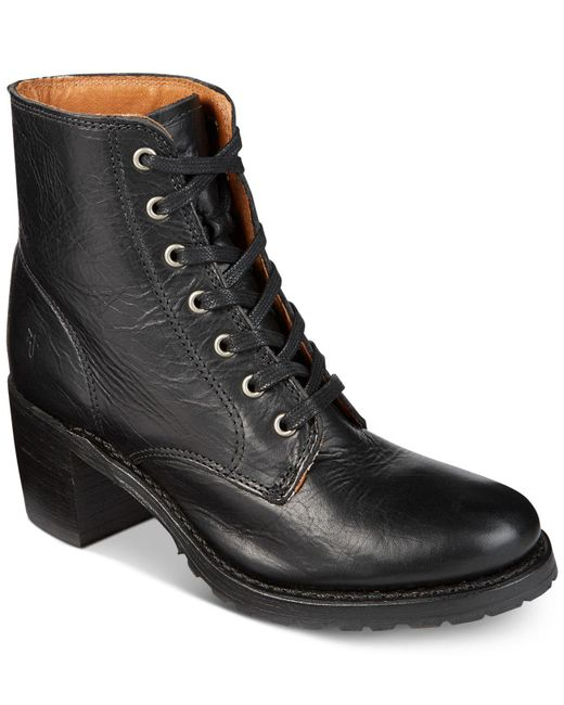Frye - Black Women's Sabrina Lace-up Boots - Lyst