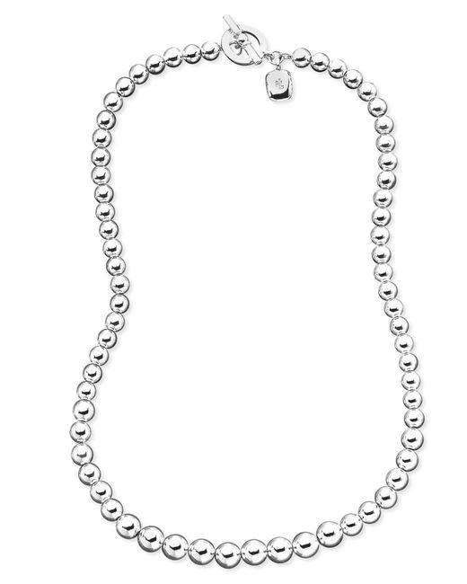 Lauren by Ralph Lauren | Metallic Graduated Silver-tone Bead Toggle Necklace | Lyst