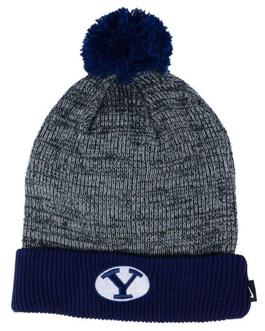Nike - Blue Heather Pom Knit Hat - Lyst