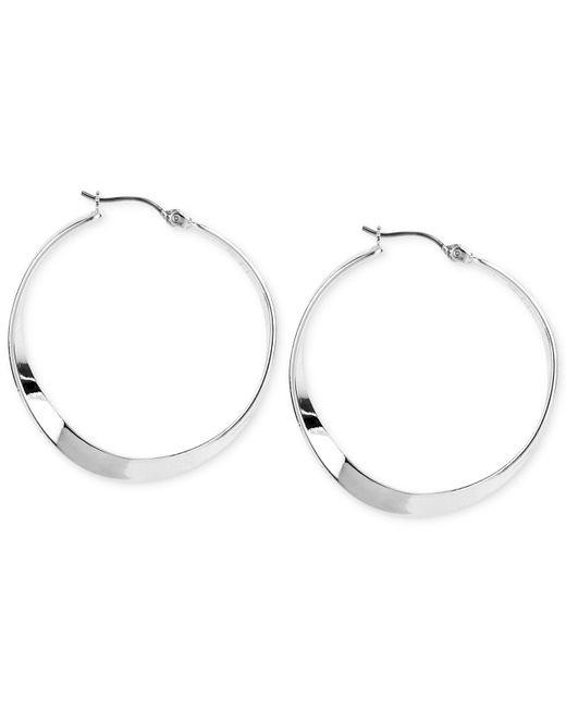 Robert Lee Morris - Metallic Silver-tone Sculptural Hoop Earrings - Lyst