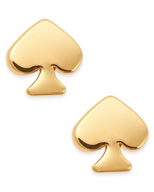 Kate Spade - Metallic Signature Spade Gold-tone Stud Earrings - Lyst