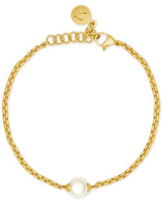 Majorica | Metallic Gold-tone Imitation Pearl Bracelet | Lyst