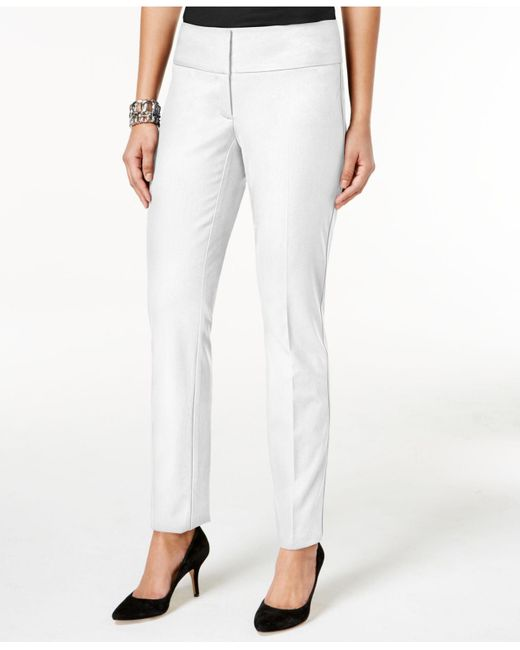 Alfani | White Slim Straight-leg Pants | Lyst