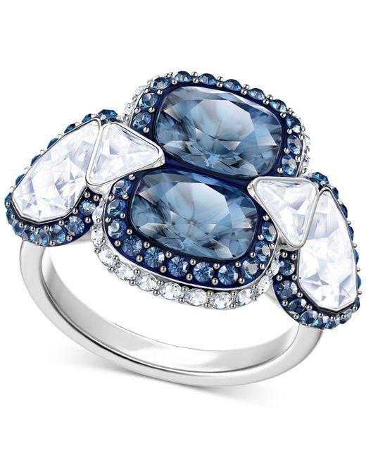 Swarovski - Metallic Silver-tone Clear & Color Crystal Ring - Lyst