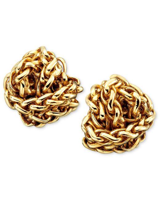 Lauren by Ralph Lauren | Natural Gold-tone Woven Earrings | Lyst