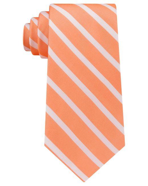 Tommy Hilfiger   Orange Men's Sedgwick Stripe Tie for Men   Lyst