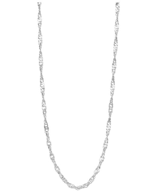 """Giani Bernini - Metallic Sterling Silver Necklace, 20"""" Twisted Singapore Chain - Lyst"""