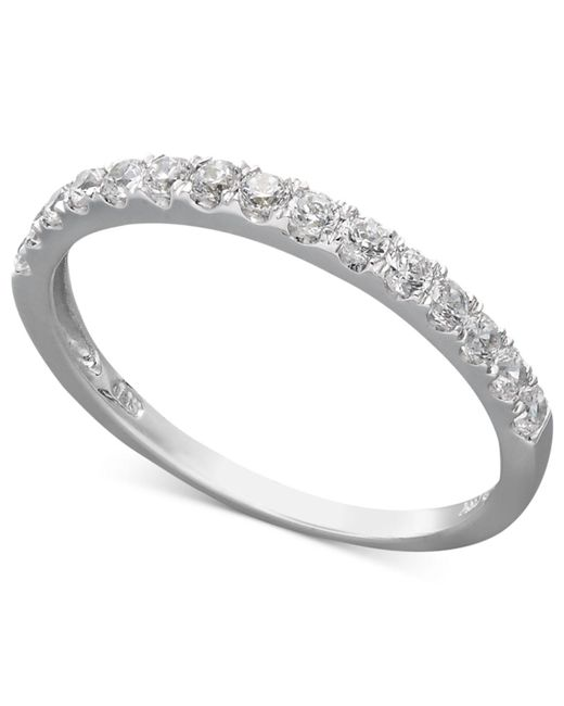 Arabella - 14k White Gold Ring, Swarovski Zirconia Wedding Band (1 Ct. T.w.) - Lyst