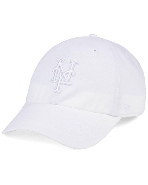 new concept da783 f5150 closeout 47 brand new york mets white white clean up cap for men lyst 7dc3d  e7d75