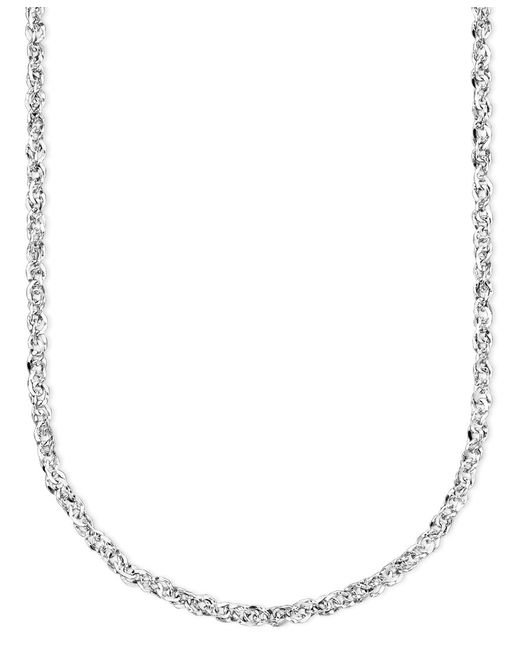 Macy's | Gray 14k White Gold Perfectina Chain Necklace | Lyst