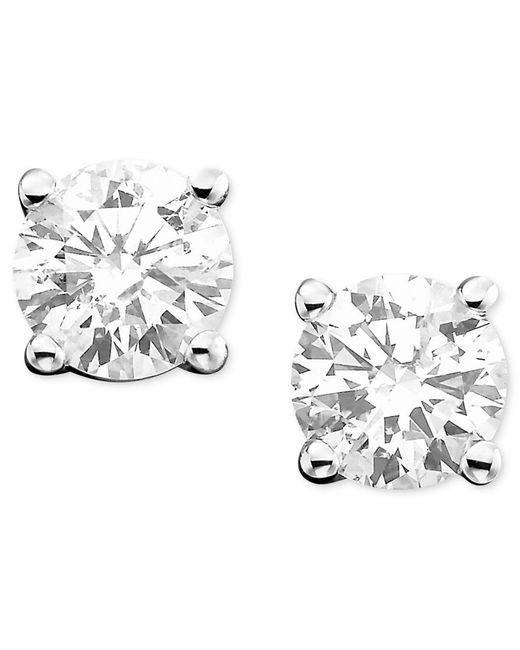 Macy's   Diamond Stud Earrings (3/4 Ct. T.w.) In 14k White Gold Or Gold   Lyst