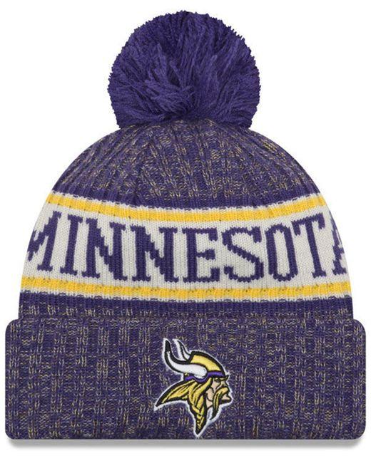 online store db37a 5b166 KTZ - Purple Minnesota Vikings Sport Knit Hat - Lyst ...