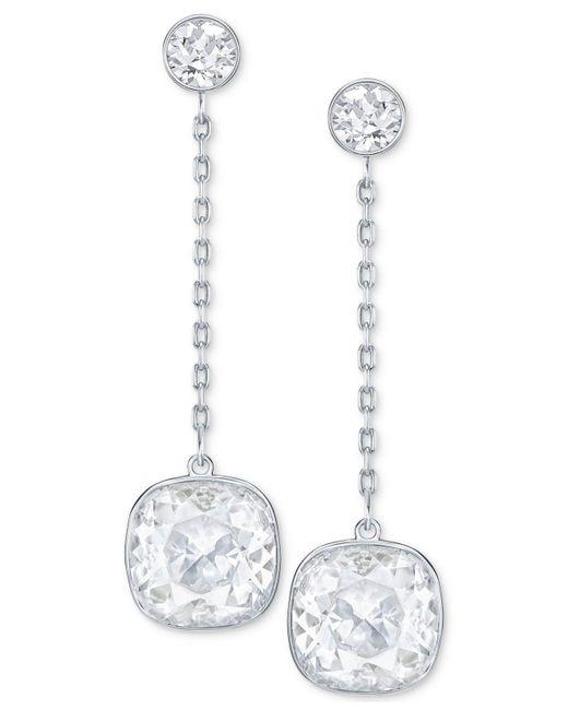 Swarovski - Metallic Crystal Chain Earring Jackets - Lyst