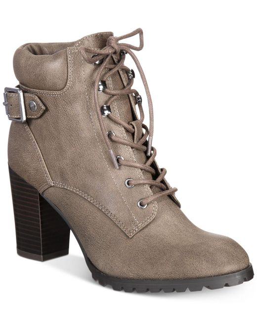 Style & Co. | Brown Style&co. Caitlin Lace-up Booties | Lyst