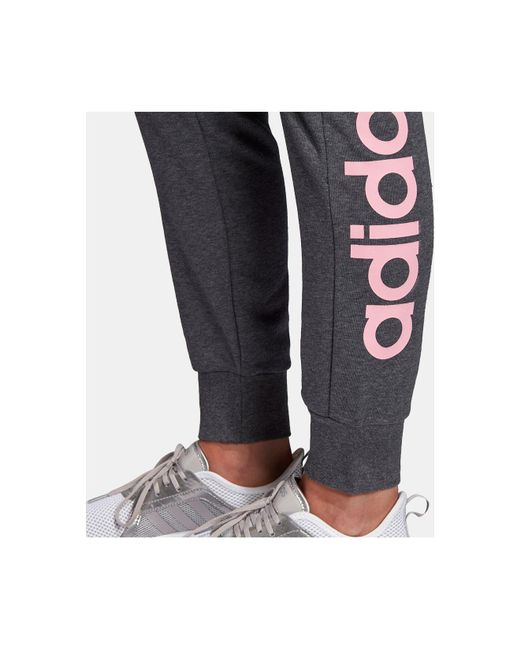 12163d0c16bb ... Adidas - Gray Linear-logo French Terry Joggers - Lyst ...
