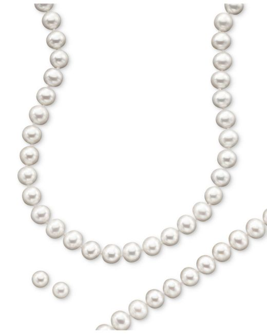 Macy's | Metallic 14k Gold Cultured Freshwater Pearl Necklace, Earring & Bracelet Set | Lyst