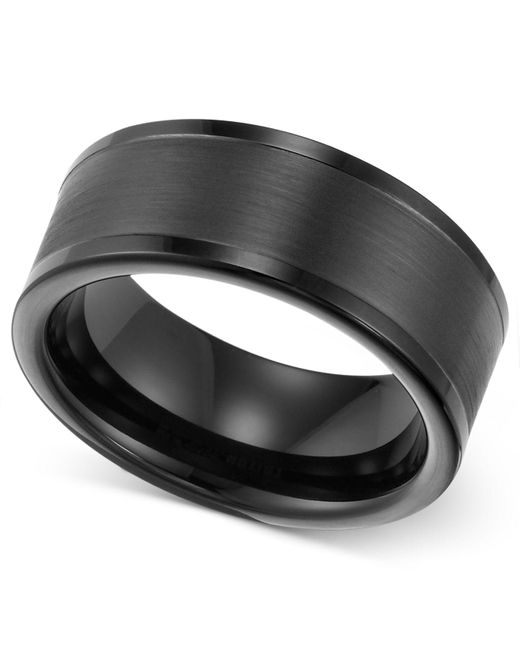 Triton - Men's Ring, 8mm Black Tungsten Wedding Band for Men - Lyst