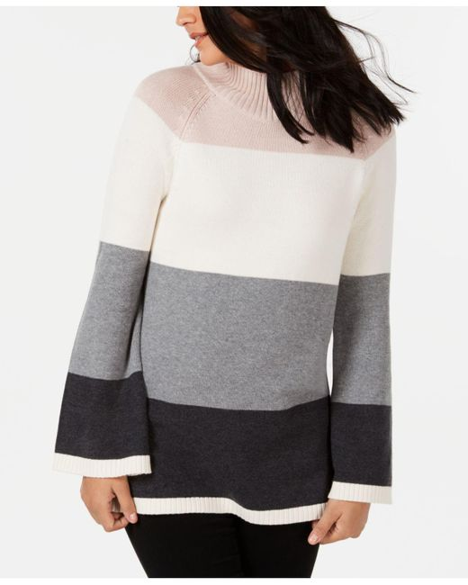 Charter Club - Gray Flare-sleeve Sweater, Created For Macy's - Lyst