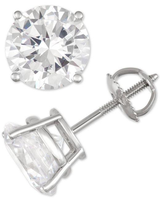 Macy's - Multicolor Diamond Stud Earrings (6 Ct. T.w.) In 14k White Gold - Lyst