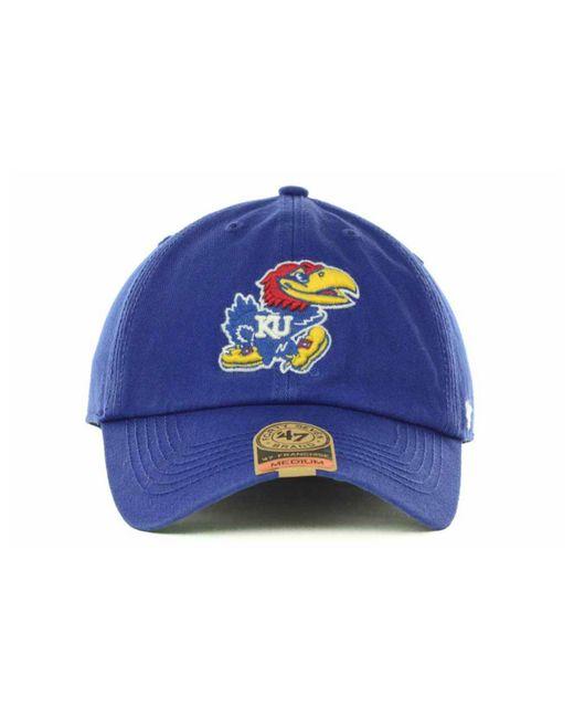 5c785567f9b5d ... 47 Brand - Blue Kansas Jayhawks Franchise Cap for Men - Lyst ...