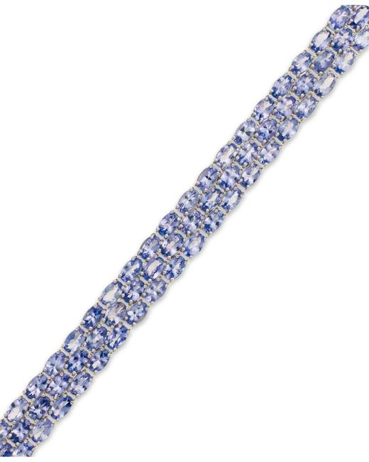Macy's | Blue Tanzanite Three-row Bracelet In Sterling Silver (25 Ct. T.w.) | Lyst