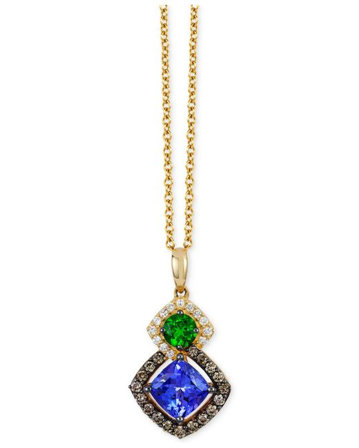 Le Vian - Metallic Multi-gemstone (1-1/5 Ct. T.w.) And Diamond (1/4 Ct. T.w.) Pendant Necklace In 14k Gold - Lyst