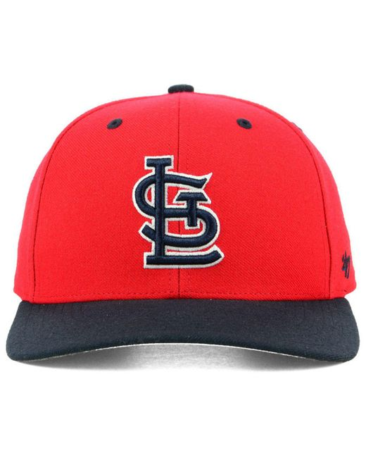 watch a6034 ad986 ... 47 Brand - Red St. Louis Cardinals 2 Tone Mvp Cap for Men - Lyst ...