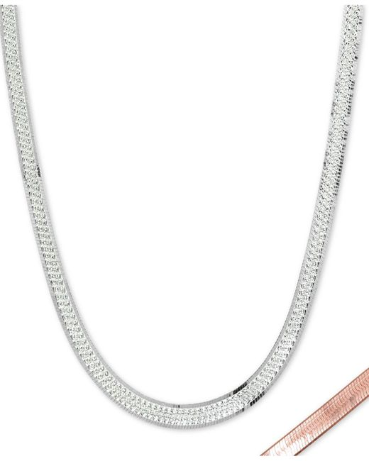 "Giani Bernini - Metallic Two-tone Reversible 16"" Chain Necklace In Sterling Silver & 18k Gold-plate, Created For Macy's - Lyst"