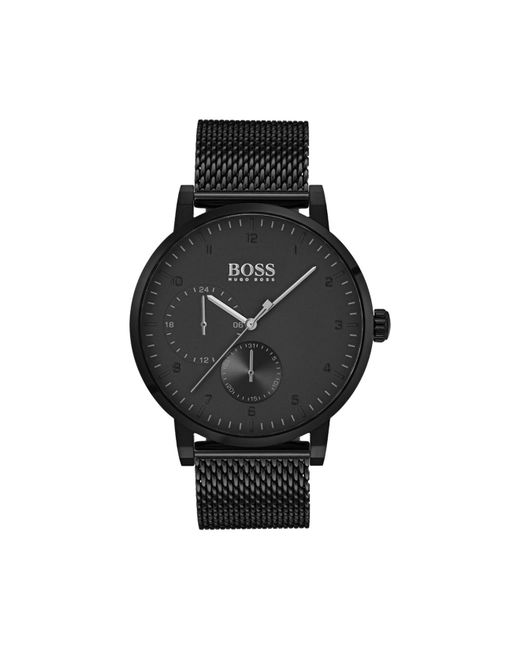BOSS - Black Oxygen Mesh Strap Watch for Men - Lyst
