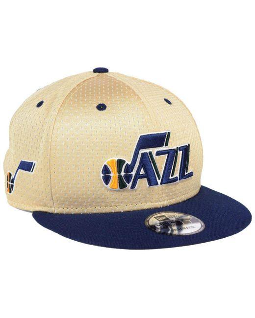 half off 8fbaa 791c5 KTZ - Blue Utah Jazz Champagne 9fifty Snapback Cap for Men - Lyst ...