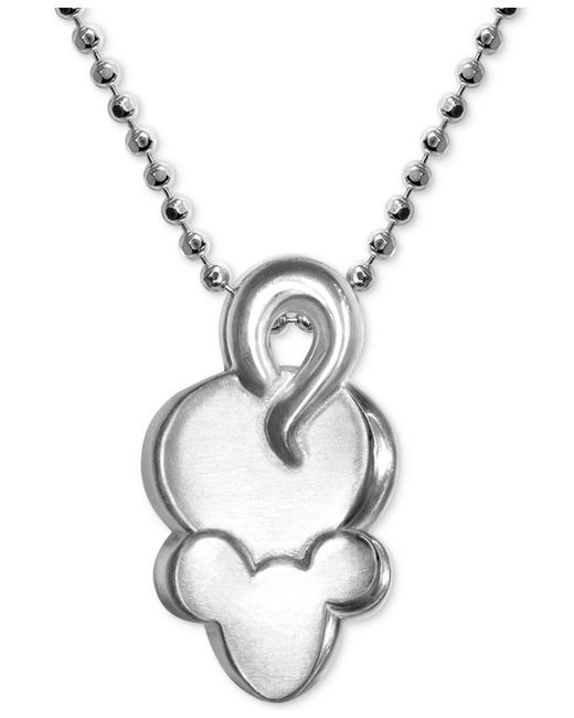 "Alex Woo - Metallic Mini Mouse Pendant 16"" Necklace In Sterling Silver - Lyst"