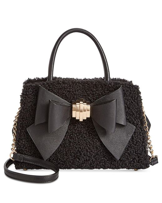 Betsey Johnson - Black Medium Satchel With Removable Bow - Lyst