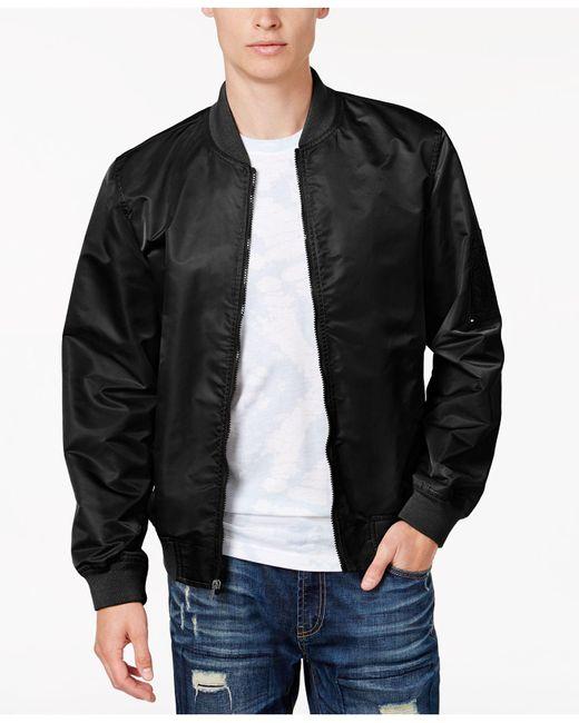American Rag   Black Men's Nylon Bomber Jacket, Only At Macy's for Men   Lyst