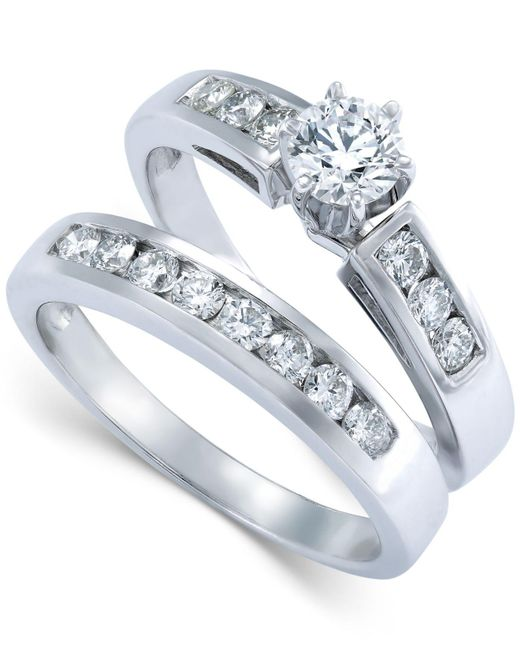 Macy's - Diamond Bridal Set In 14k White Gold (9/10 Ct. T.w.) - Lyst