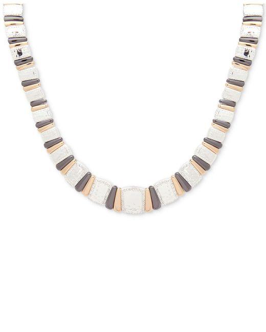 Nine West | Metallic Tri-tone Pavé Collar Necklace | Lyst